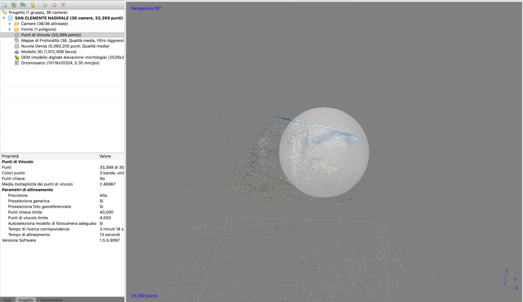 Schermata di Metashape Pro